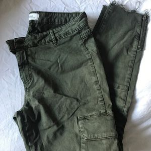 Zara cargo tapered pants